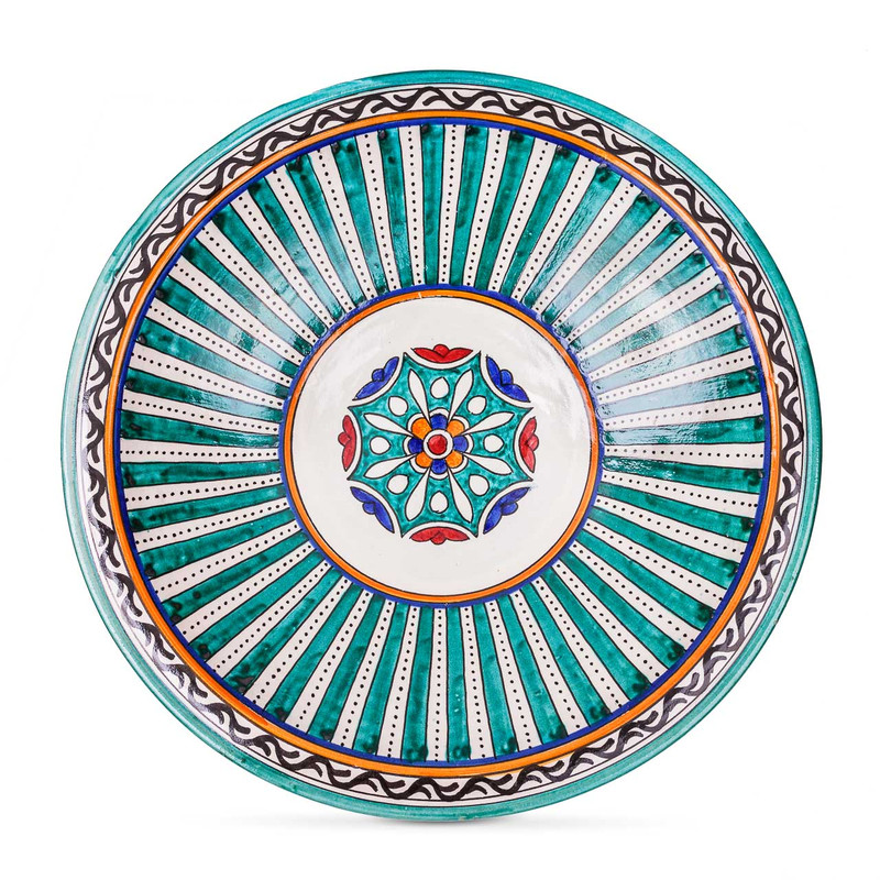Fes Ceramic Bowl stripe from Morocco
