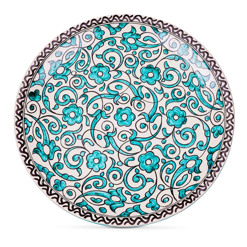Fes Ceramic Plate Green from Morocco