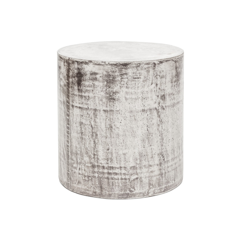 Concrete Look Side Table Round - a versatile side table or stool which look stunning indoors or outdoors and suitable for commercial use. Our Stone collection is made from fibre reinforced cement - a composite material of natural fibres, cement stone powder and a natural, latex based waterproofing agent making them extremely durable for Australian outdoor conditions.