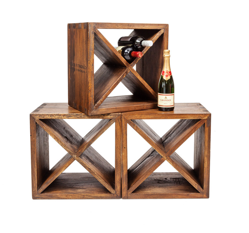 Stack of wine cubes