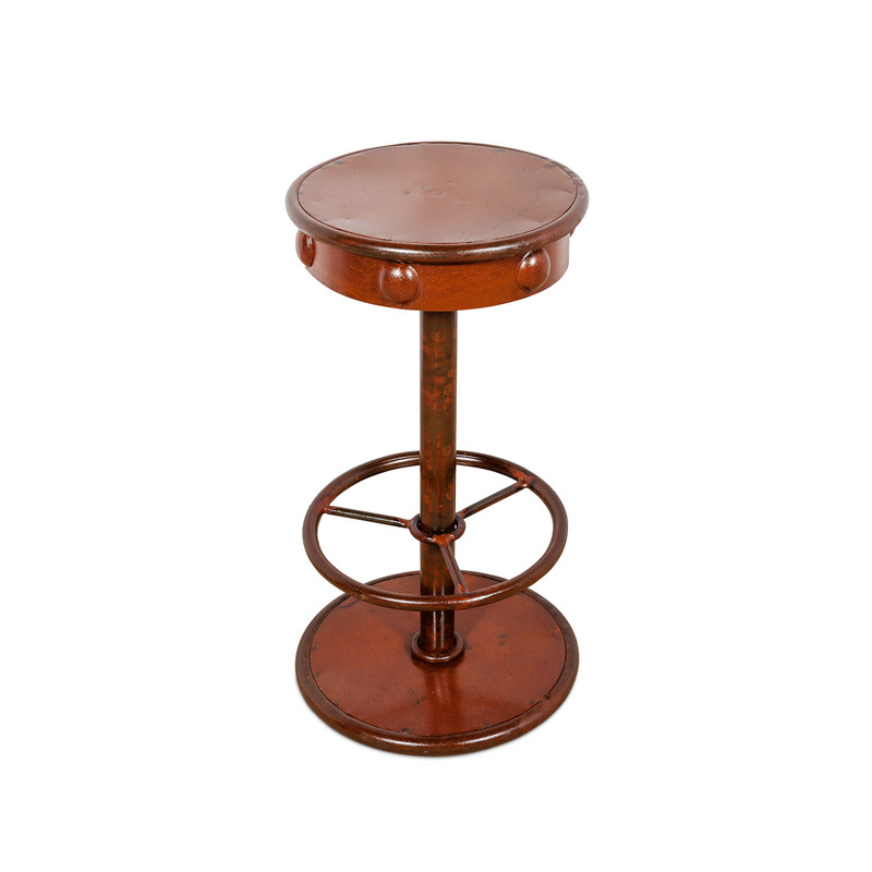 Industrial Metal Swivel Bar Stool