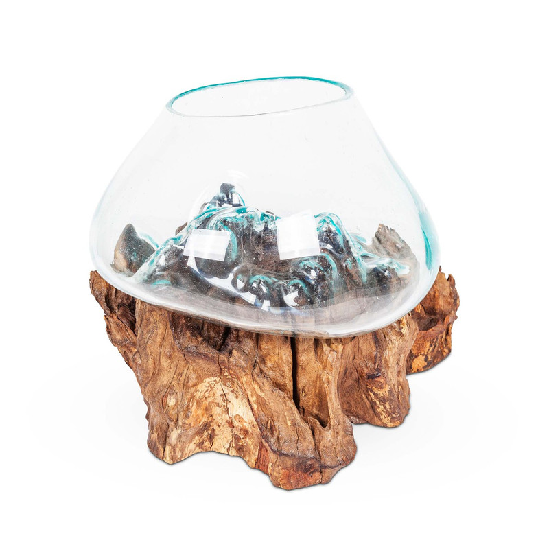 Timber & Glass Fish Bowl