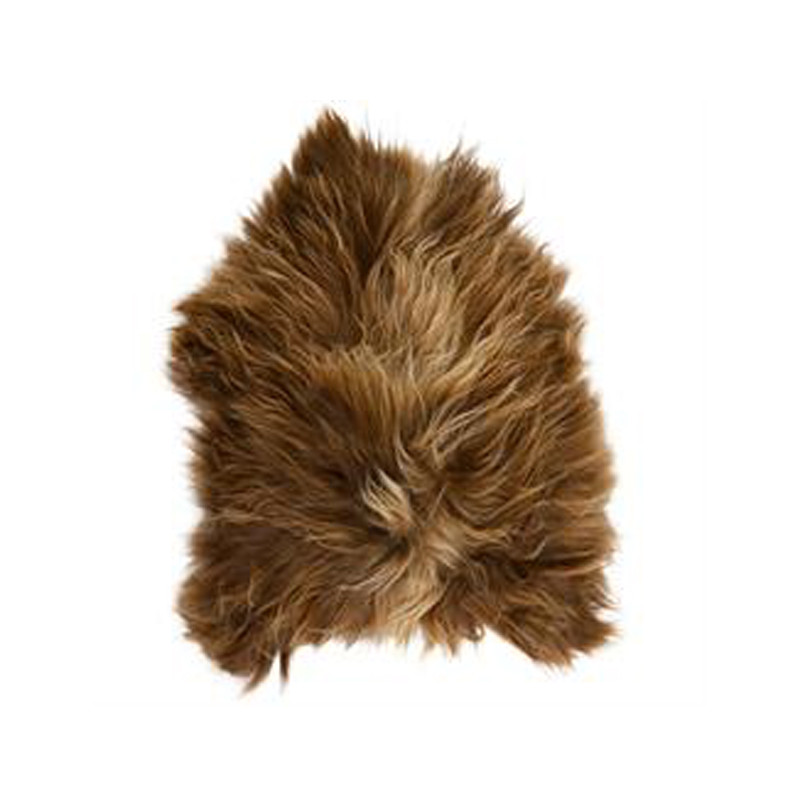 Icelandic Sheepskin Copper Caramel. Add warmth, texture and luxury to your space with this naturally silky soft long haired Icelandic Merino sheepskin throw rug in copper caramel. Front view.