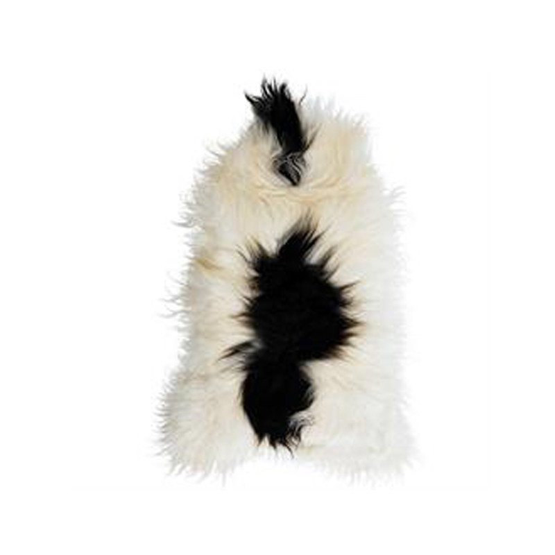 Icelandic Sheepskin White with Black Spot