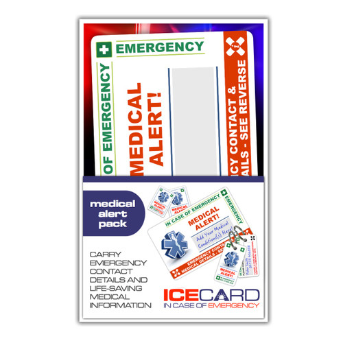 MEDICAL ALERT ICEcard Pack
