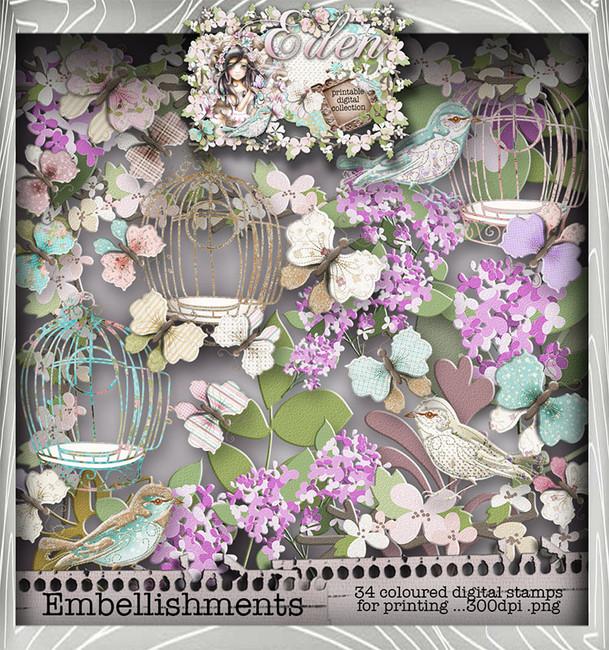 Eden Collection - Embellish It Digital Craft Download Bundle