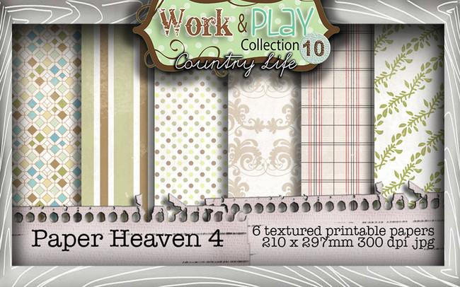 Work & Play 10 Collection - Paper Heaven 4 Digital Craft Download Bundle