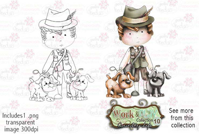 Gamekeeper Digital Stamp - Work & Play 10 Digital Craft Download