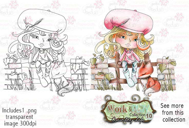 Foxy Friend Digital Stamp - Work & Play 10 Digital Craft Download