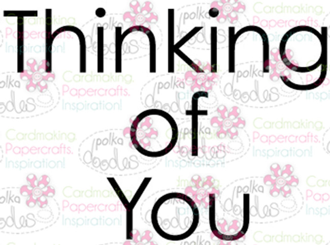 Thinking of You sentiment downloadable digital stamp