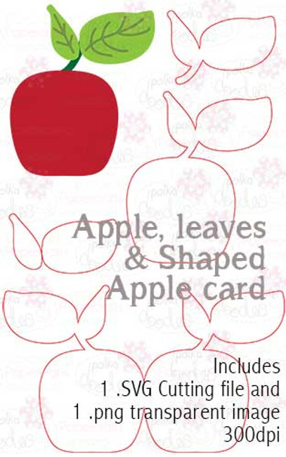 Cutting File download - Apple/Card Template