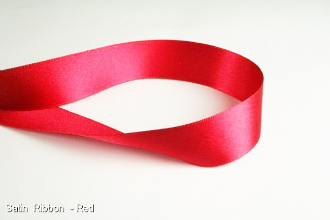 Red Satin ribbon double sided x 1m