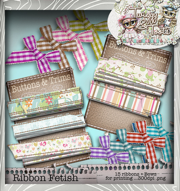 Twiggy & Toots Ribbon/TrimsHeaven bundle - Digital Craft Download