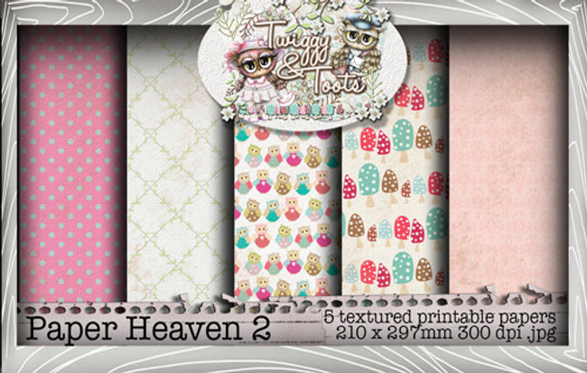 Twiggy & Toots Paper Heaven 2 bundle - Digital Craft Download