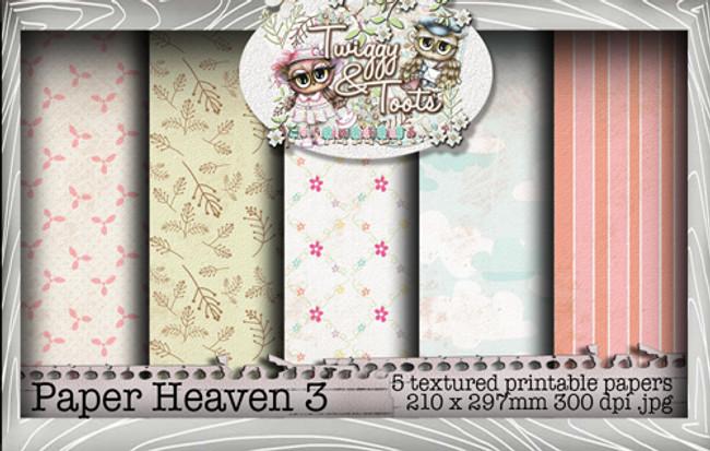 Twiggy & Toots Paper Heaven 3 bundle - Digital Craft Download