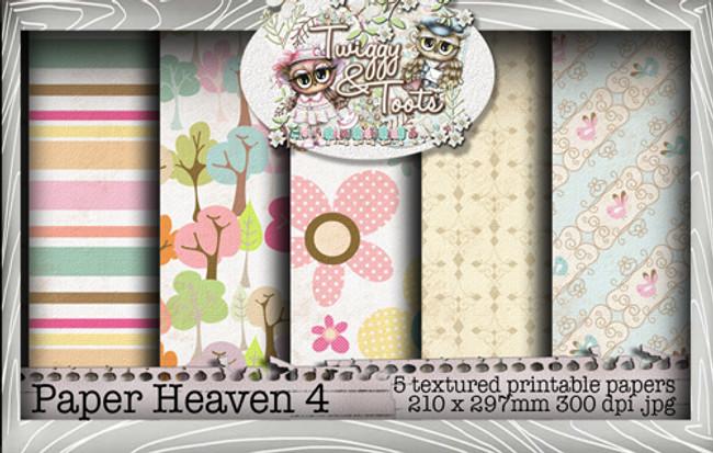Twiggy & Toots Paper Heaven 4 bundle - Digital Craft Download