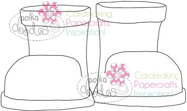 Boots, Wellies, Wellingtons, Digital Stamp Craft Download