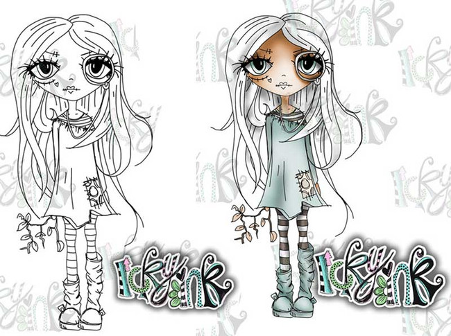 Oddella Twig - Ickyink Art alternative digistamp Craft Download