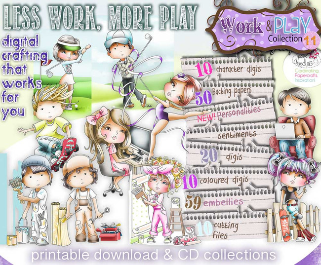 Work & Play 11 - Download Digital Crafting Collection
