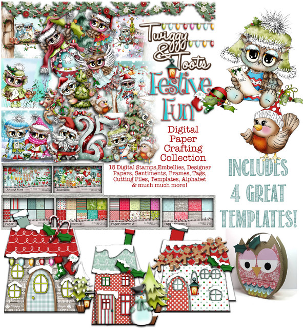 Twiggy & Toots Festive Fun - Digital CD Crafting Collection