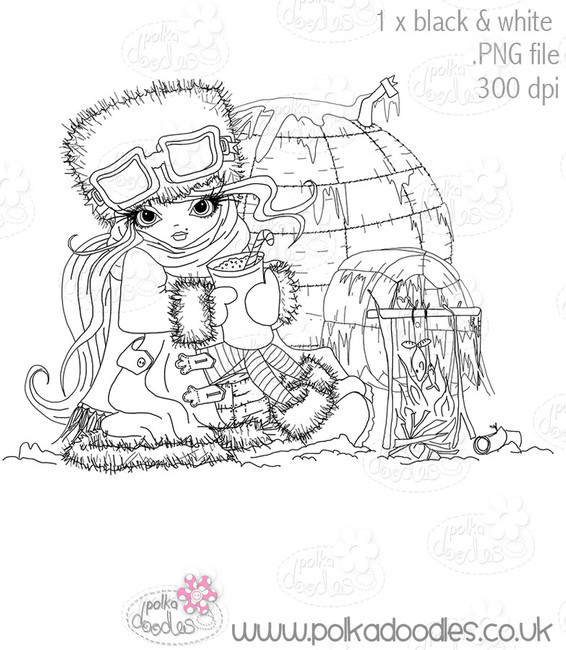 Igloo Camp - Octavia Frosted Winter - Digital CRAFT Download