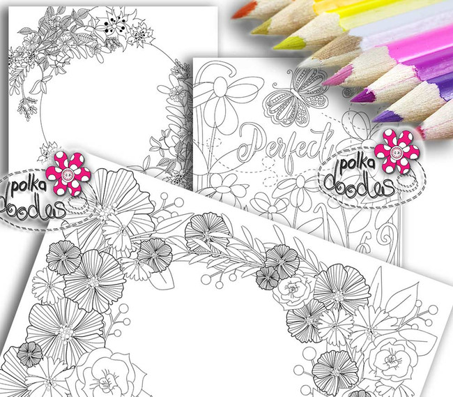 Adult Colouring pages bundle 12 - Downloadable Adult printable Colouring Book Pages