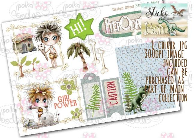 Sticks & Bones - Design Sheet 6  - Digital CRAFT Download