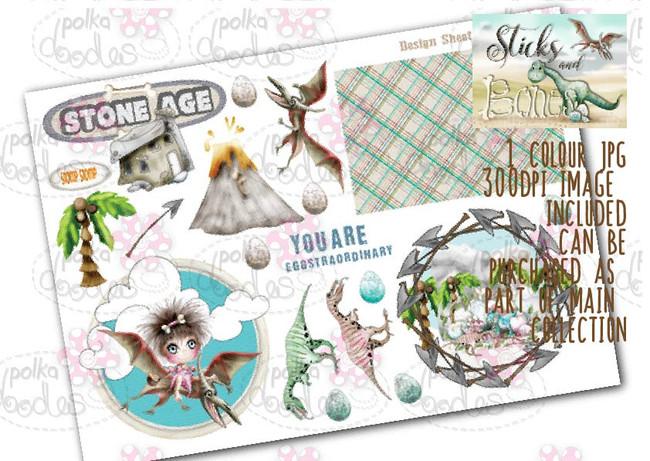 Sticks & Bones - Design Sheet 9  - Digital CRAFT Download