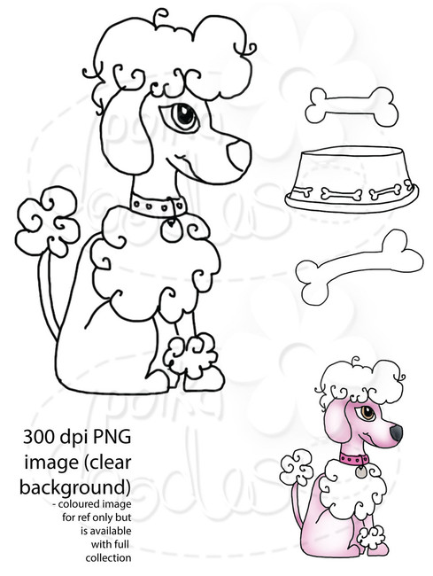 Dog/Poodle Digital Stamp