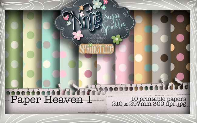 Winnie Sugar Sprinkles Paper Heaven 1 Bundle - Printable Crafting Digital Stamp Craft Scrapbooking Download