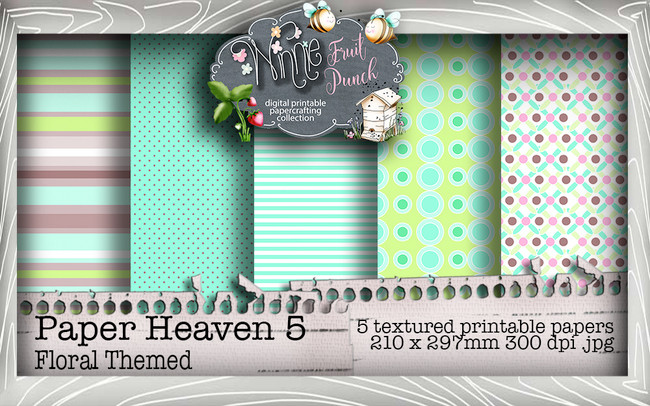Winnie Fruit Punch Paper Heaven 5 Bundle - Printable Crafting Digital Stamp Craft Scrapbooking Download