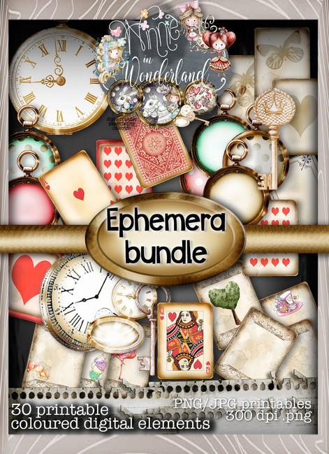 Winnie Wonderland Ephemera - Printable Digital download