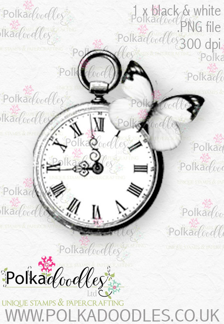 Winnie Wonderland watch - Printable Digital stamp download