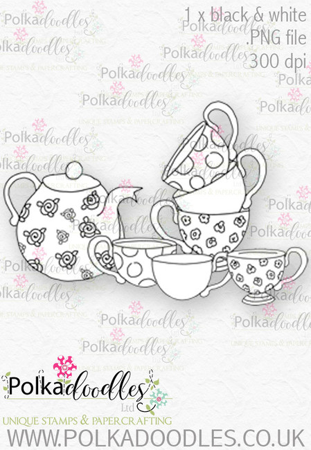 Winnie Wonderland Always teatime - Printable Digital stamp download