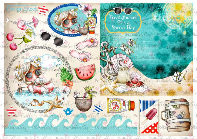 Winnie Starfish/Sandcastles Design Sheet 11 DOWNLOAD