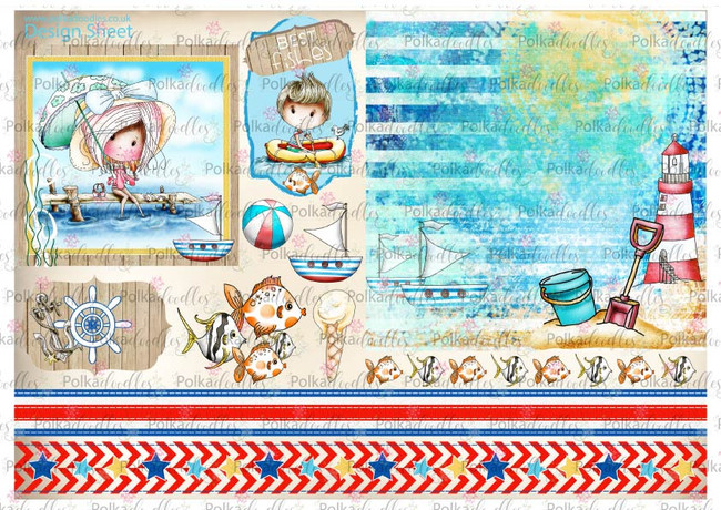 Winnie Starfish/Sandcastles Design Sheet 10 DOWNLOAD