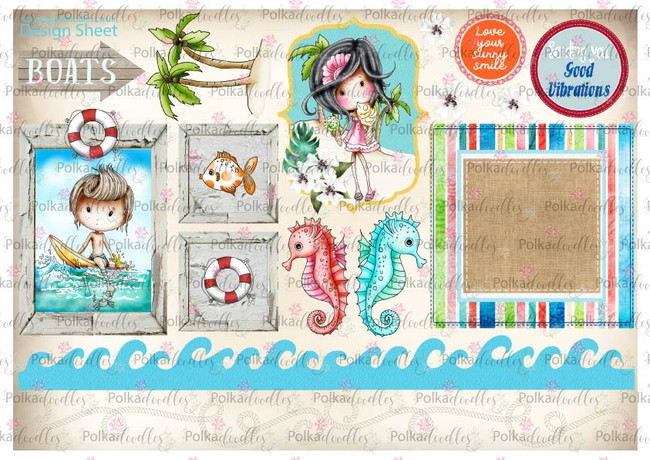 Winnie Starfish/Sandcastles Design Sheet 8 DOWNLOAD