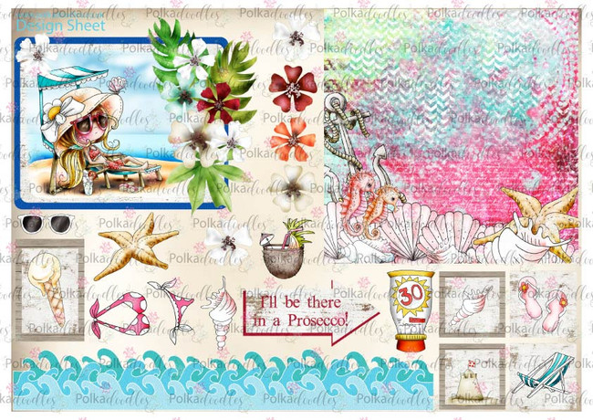 Winnie Starfish/Sandcastles Design Sheet 7 DOWNLOAD