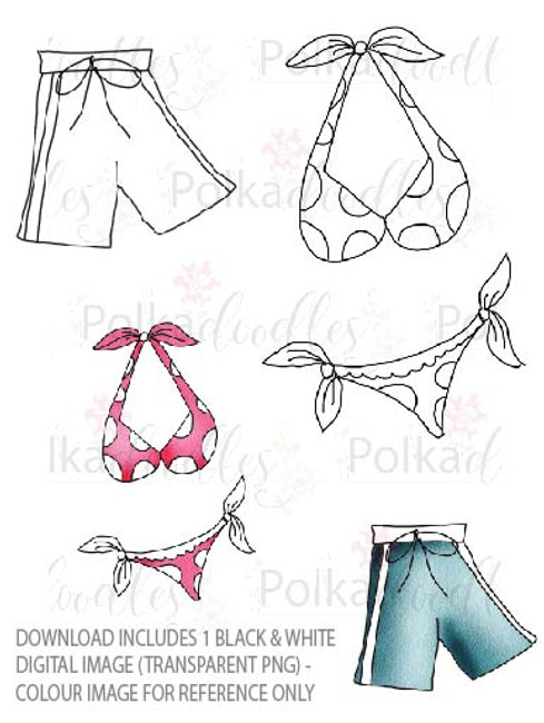 Winnie Starfish/Sandcastles - Bikini/Shorts DOWNLOAD