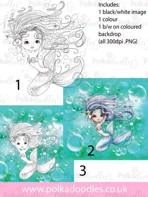 Meribelle Pretty 3-for-2 digital craft stamp download