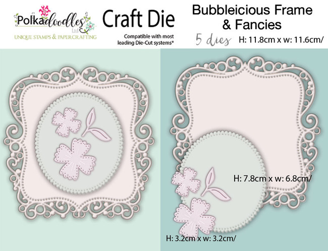 Bubbleicious Frames & Flowers craft cutting die set