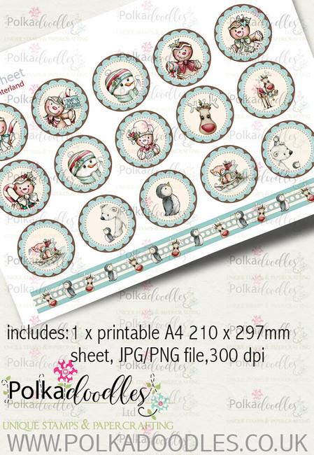 Baked With Love - Design Sheet 37 digital craft paper download