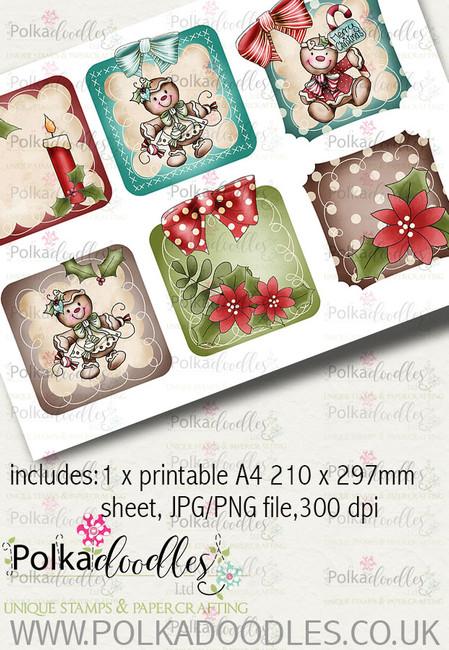 Baked With Love - Design Sheet 4 digital craft paper download