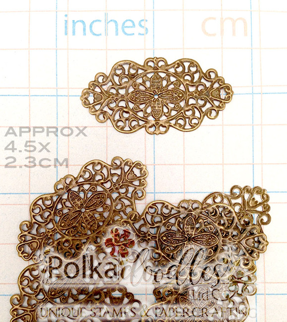 10 Bronze Tone Flower Rattan Filigree Wraps Connectors 4.5x2.3cm