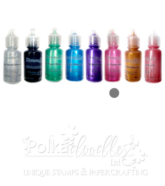 Pearl Bright Pink - Dovecrafts 3D Pearl Effects Glue 20ml
