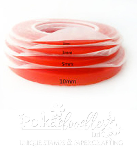 Red Super Sticky Adhesive Tape 8mm wide