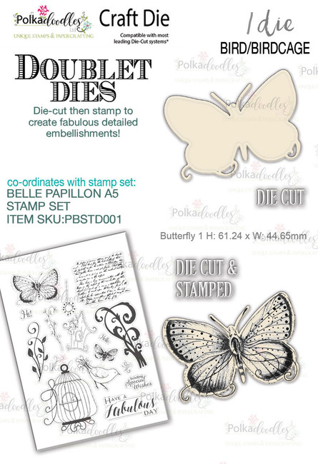 Butterfly 1 'DOUBLET' Craft Cutting die