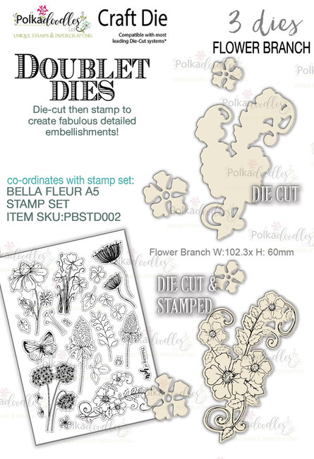 Flower Branch 'DOUBLET' 3 set - Craft Cutting dies
