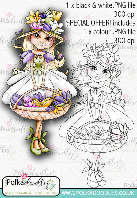 Crocus, The Darling Buds - Digital Craft Digi Stamp DOWNLOAD