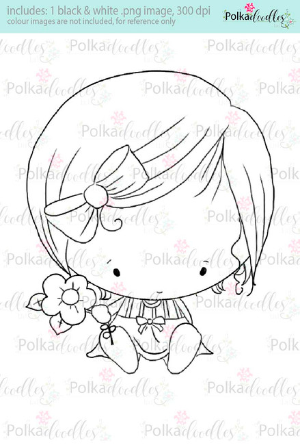 Lil Miss Cutiepie - Sugarpops Kit 1...Craft printable download digital stamps/digi scrap kit